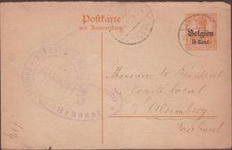 CARTE  1917 MOLHEM  VOIR CACHETS - Zone Belge