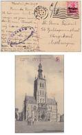 Belgien Deutsches Reich 10 Centimes Surcharge 1918 WW1 WWI Militärische ÜBERWACHUNGSSTELLE Geprüft Tienen Brussel - Guerre 14-18