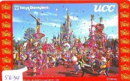 Télécarte Japon / 110-205400 - DISNEY DISNEYLAND (5634) Pub Café UCC - Japan Phonecard Telefonkarte - Disney