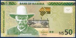 NAMIBIA 50 DOLLARS P-13b  FAUNA ANIMALS ANTELOPE KUDUS 2016 UNC - Namibie