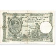 Billet, Belgique, 1000 Francs-200 Belgas, 1927-1929, 1934-10-09, KM:104, TTB - 1000 Francs & 1000 Francs-200 Belgas