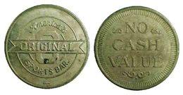 03903 GETTONE JETON TOKEN ARCADE GAMING PLAY MACHINE ORIGINAL AMERICA'S SPORT BAR NO CASH VALUE - USA