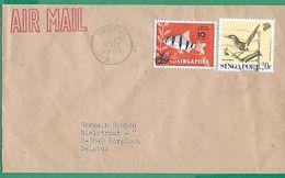 ! - Singapore (Singapour) - Lettre Avec 2 Timbre - Cachet Du 12/12/1991 - Envoi De Singapore Vers Borgloon (Belgique) - Singapour (1959-...)