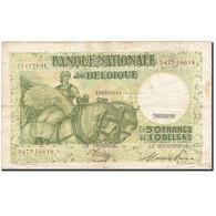 Billet, Belgique, 50 Francs-10 Belgas, 1933-1935, 1944-11-18, KM:106, TB+ - [ 2] 1831-... : Regno Del Belgio