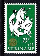 SURINAM 439** 25c +12c Vert, Noir Et Or Oeuvres De Bienfaisance Rotary International - Surinam