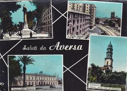 AVERSA /  Saluti Con Vedutine _ Viaggiata - Aversa