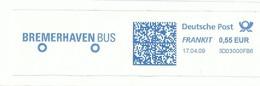 EMA METER STAMP FREISTEMPEL FRANQUEO MECANICO GERMANY -  BUS FRANKIT BREMENHAVENBUS - Busses
