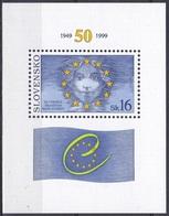 Slowakei Slovakia 1999 Organisationen Europarat Flaggen Fahnen Flags Sterne, Bl. 11 ** - Ungebraucht