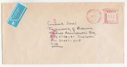 1983 KENYA METER NE067 Stamps COVER To USA - Kenya (1963-...)