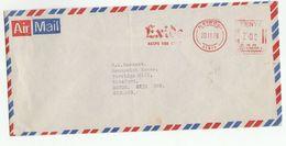 1978 KENYA COVER METER Stamps SLOGAN EXIDE KEEPS YOU GOING To GB - Kenya (1963-...)