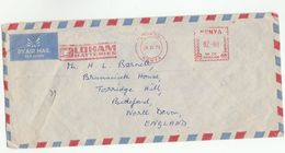 1978 KENYA COVER METER Stamps SLOGAN OLDHAM BATTERIES To GB - Kenya (1963-...)