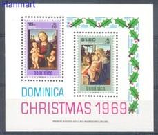 Dominica 1969 Mi Bl 1 MNH ( ZS2 DMNbl1 ) - Madonna