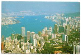 HONG KONG - BIRD'S-EYE VIEW OF VICTORIA HARBOUR - Cina (Hong Kong)