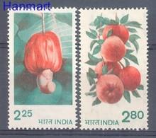 India 1981 MNH ( ZS8 IND863-864D ) - Obst & Früchte