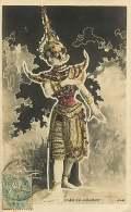 270118 - CARTE PAILLETTE - CLEO DE MERODE Danseuse Icône Beauté - INDE - Artisti