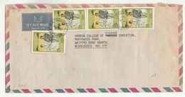 1981 Air Mail KENYA COVER Multi ROYAL WEDDING Stamps To GB Royalty - Kenya (1963-...)