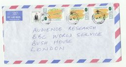 Air Mail KENYA COVER Stamps  3x FAO Maize 1x Eagle Bird Stamps  To GB Un United Nations Birds - Kenya (1963-...)