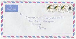 1999 Air Mail KENYA COVER Stamps  3x 14/- WEAVER BIRD, 1 X 5/- EAGLE  Birds - Kenya (1963-...)