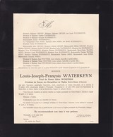 WESTMALLE Trappistes Louis WATERKEYN Veuf WOUTERS Anvers 1857 - Westmalle 1938 Enterré DEURNE - Décès