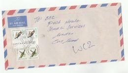Air Mail KENYA COVER Stamps 2x 10/- BEE EATER BIRD 2x 1/- BARBET Birds - Kenya (1963-...)
