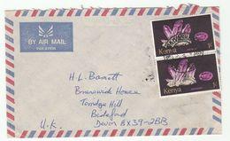 1979  KENYA COVER  Pmk 'NAIVASHA TELEGRAPHS'  Air Mail To GB Franked Amethyst Crystal Stamps Minerals Telecom Telegraph - Kenya (1963-...)