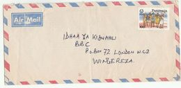 1992 Air Mail TANZANIA COVER  Stamps 100/- GIRL GUIDES Scouts Scouting - Tanzania (1964-...)