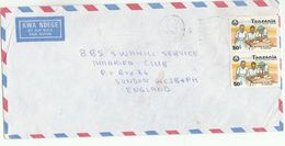 1992 Air Mail TANZANIA COVER  Stamps 2x 50/- GIRL GUIDES Scouts Scouting - Tanzania (1964-...)