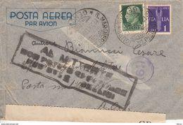 Serie Pegaso Posta Aerea Lire 1 , Santa Margherita Per Posta Militare N. 2,  12.2.41 - 1900-44 Vittorio Emanuele III