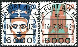 BRD - Michel 1374 / 1375 - Zentrisch OO Gestempelt  (C) - 70-120Pf      Sehenswürdigkeiten III - [7] West-Duitsland