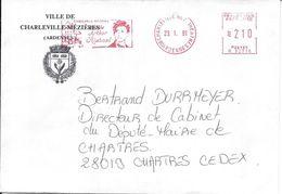 VILLE DE CHARLEVILLE-MÉZIÈRES - Arthur Rimbaud - Croix De Guerre - 29-1-1981 - Marcophilie (Lettres)