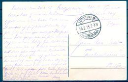 """1915 , ALEMANIA , TARJETA POSTAL CIRCULADA ENTRE LÜTTICH Y TAUBENHEIM , MAT. """" HAUPTBAHNHOF """" - Cartas"""
