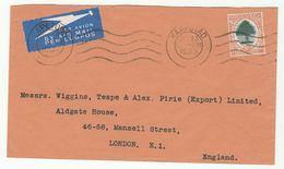 1935 Air Mail SOUTH AFRICA Stamps COVER To GB, Airmail Label Flight Aviation - South Africa (...-1961)