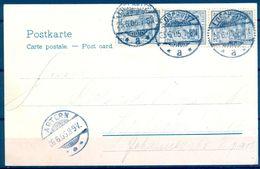 1905 , ALEMANIA , TARJETA POSTAL DE WEISSER HIRSCH CIRCULADA ENTRE LOSCHWITZ Y ARTERN , - Cartas