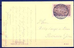 1923 , ALEMANIA , TARJETA POSTAL CIRCULADA DESDE RIESENGEBIRGE - Storia Postale