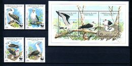Christmas Weihnachtsinsel 1990 Birds Vögel WWF 4v+1bl MNH** - W.W.F.