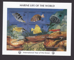 Tanzania, Scott #1698, Mint Never Hinged, International Year Of The Ocean, Issued 1998 - Tanzania (1964-...)