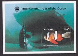 Tanzania, Scott #1700, Mint Never Hinged, International Year Of The Ocean, Issued 1998 - Tanzanie (1964-...)