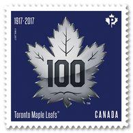 DIE CUT Coil Stamp MAPLE LEAFS HOCKEY Team 100th Anniversary MNH Canada 2017 - Hockey (Ijs)