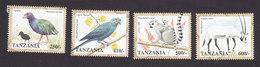 Tanzania, Scott #1711-1714, Mint Hinged, Fauna And Flora, Issued 1998 - Tanzania (1964-...)