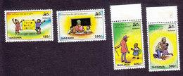 Tanzania, Scott #1719-1722, Mint Hinged, Education, Issued 1998 - Tanzanie (1964-...)