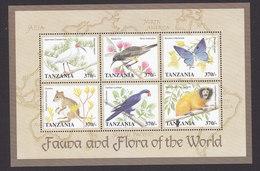 Tanzania, Scott #1715-1716, Mint Never Hinged, Fauna And Flora, Issued 1998 - Tanzania (1964-...)