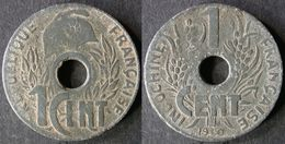 INDOCHINE  FRANCAISE  1 Cent LOTUS 1940   INDOCHINA   Port Offert - Colonias