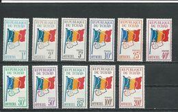TCHAD  Scott O1-O11 Yvert Service 1-11 (11) ** Cote 9,00$ 1966-71 - Tchad (1960-...)