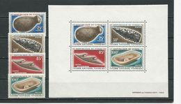 TCHAD  Scott 134-137, 137a Yvert 132-135, BF3 (4+bloc) ** Cote 21,50$ 1966 - Tchad (1960-...)