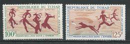 TCHAD  Scott C38-C39 Yvert PA42-PA43 (2) ** Cote 17,00$ 1967 - Tchad (1960-...)