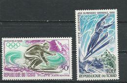 TCHAD  Scott C40-C41 Yvert PA44-PA45 (2) ** Cote 4,50$ 1968 - Tchad (1960-...)