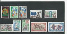 TCHAD  Scott 151,152,153-4,156,157-8,180,C45-6 Yvert 149, 150-1,152, 154, 155, 156, 178,PA49-50 (10) ** Cote 11,50$ 1968 - Tchad (1960-...)