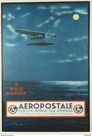 Aviation CG Aeropostale Rio De Janeiro 1930s - Postcard Reproduction - Publicité