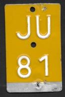 Velonummer Mofanummer Jura JU 81 - Number Plates
