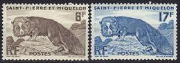 St Pierre Et Miquelon N° 345, 346 ** Renard Argenté - St.Pierre & Miquelon